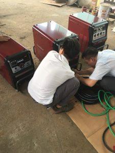 Bàn giao máy hàn que DC Inverter 400LD2 Worldwel,Longrun-Hàn Quốc